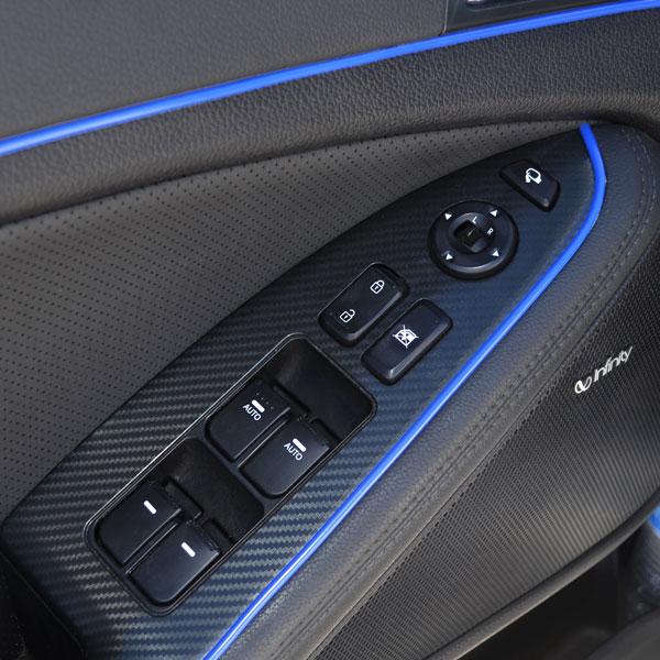 blue 5m flexible trim for car interior exterior molding strip decorative p4 ebay. Black Bedroom Furniture Sets. Home Design Ideas