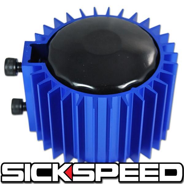 Blue Engine Oil Filter Cooler Heat Sink Cover Cap Billet