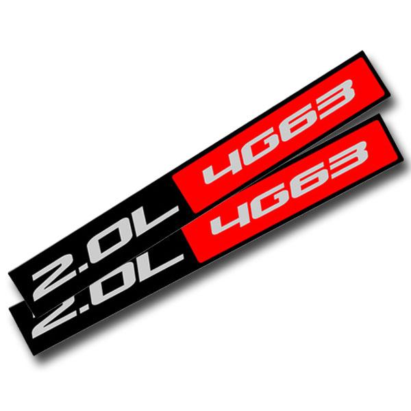 BLACK//RED METAL 2.0L 4G63 ENGINE RACE MOTOR SWAP BADGE FOR TRUNK HOOD DOOR