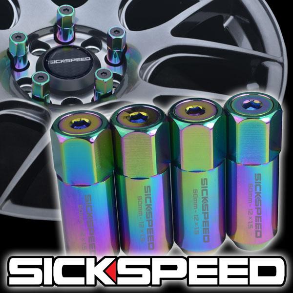 SICKSPEED 4 PC POLISHED//GREEN SPIKED ALUMINUM LUG NUTS POLARIS ATV 3//8X24 L31